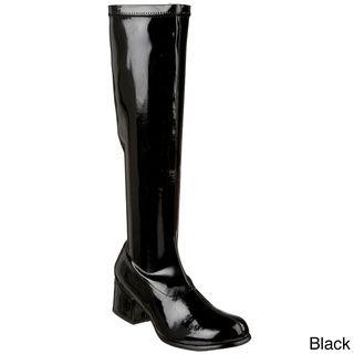 Funtasma Women's 'Retro 300' Patent Block Heel Gogo Boots FUNTASMA Boots