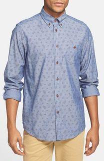 Ben Sherman Paisley Print Chambray Shirt
