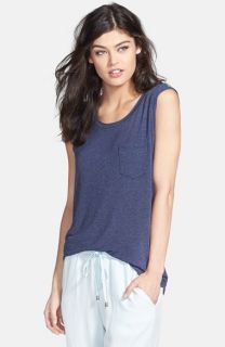 Splendid Drape Sleeve Muscle Tee