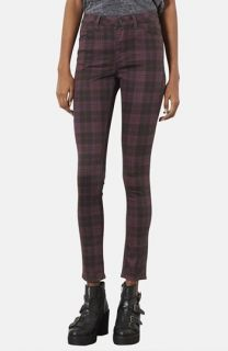 Topshop Moto Leigh Checkered Skinny Pants