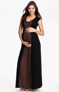 Japanese Weekend Colorblock Maternity Dress