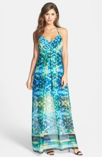 Marc New York by Andrew Marc Geo Print Maxi Dress