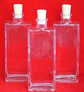 3 St�ck 100ml, Genny Flaschen, leere Glasflaschen mit Korken, zum selbst Abf�llen, 0, 1l Liter, Lik�rflaschen, Schnapsflaschen, Essigflaschen, �lflaschen, H�he 15, 6 cm Küche & Haushalt