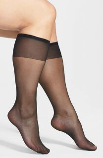 Sheer Knee High Socks (3 Pack) (Plus Size & Plus Size Tall) (3 for $30)