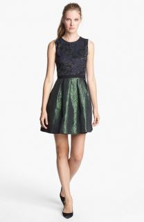 Erin by Erin Fetherston Alice Mixed Media Fit & Flare Dress