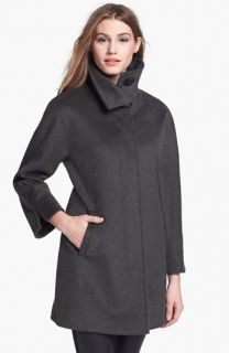 Ellen Tracy Wool Blend A Line Coat ( Exclusive) (Regular & Petite)