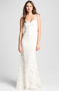 Nicole Miller Brooke Sleeveless Lace Trumpet Gown
