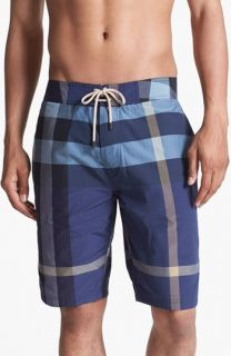 Burberry Brit Laguna Check Print Board Shorts (Men)