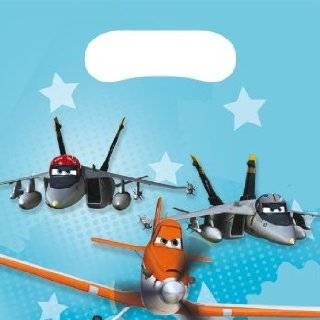 101 teiliges * DISNEY PLANES * PARTY SET f�r Kindergeburtstag mit 6 8 Kinder: Teller, Becher, Servietten, Einladungen, Partyt�ten, Tischdecke, Luftballons, Luftschlangen u.v.m. // Geburtstag Party Kinderparty Kinderfest Kinder Fete Monster Disney Pixar: Sp