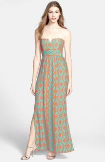 ALICE & TRIXIE Tina Print Silk Charmeuse Maxi Dress