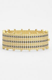 Freida Rothman Metropolitan Tuxedo Stripe Hinged Bangle