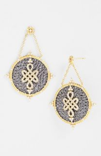 Freida Rothman Gramercy Love Knot Shield Drop Earrings