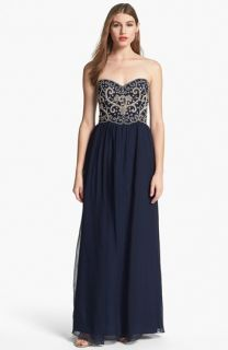 Sean Collection Embellished Strapless Silk Gown (Online Exclusive)