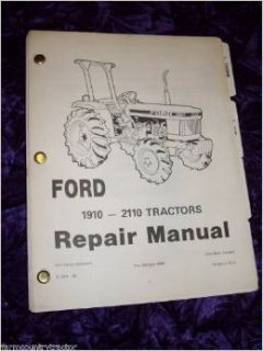 New Holland 1910 2110 Tractors OEM Service Manual New Holland Books