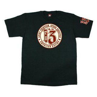 Lucky 13 AMERICAN CIRCLE Mens T Shirt  Black  XXLarge: Clothing
