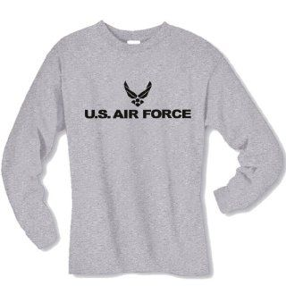 Air Force Hooded Sweatshirt in Gray: Clothing