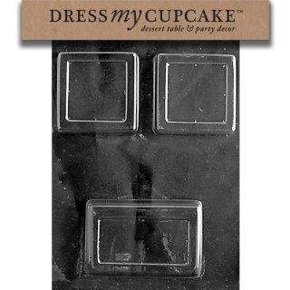 Dress My Cupcake DMCM194 Chocolate Candy Mold, Square /Rectangle Bar: Kitchen & Dining