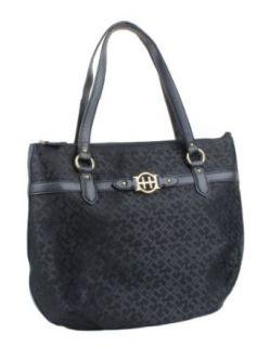 Tommy Hilfiger Signature Bucket Tote Bag   Black Clothing