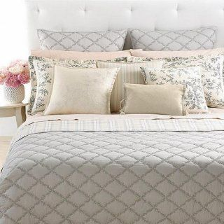 Ralph Lauren Saint Honore Reversible Full/Queen Quilted Coverlet Gray Quilt