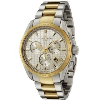 Jacques Lemans Men's GU191D Geneve Collection Tempora Chronograph Two Tone Stainless Steel Watch: JACQUES LEMANS: Watches
