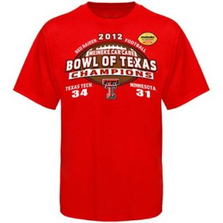 Texas Tech Red Raiders Youth 2012 Meineke Car Care Bowl Champions T Shirt   Scarlet
