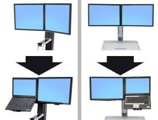 Workfit Convert To Lcd & Laptop Kit From Dual Displays Electronics
