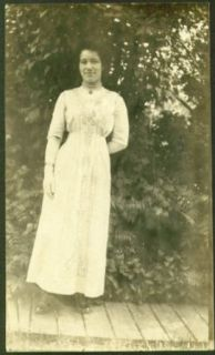 Cousin Rose embroidered dress & pearls RPPC 191?: Collectibles & Fine Art