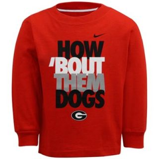 Georgia Bulldogs Toddler 2013 Local Long Sleeve T Shirt   Red