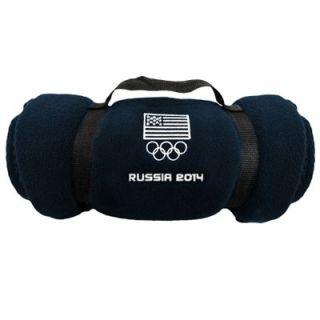 USA 2014 Winter Olympics Fleece Blanket   Navy Blue