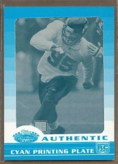 2008 Stadium Club Printing Plates Cyan #197 Lawrence Jackson 1/1: Sports Collectibles