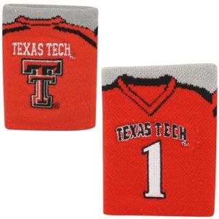 Texas Tech Red Raiders #1 Football Wrist Sweatband   Scarlet