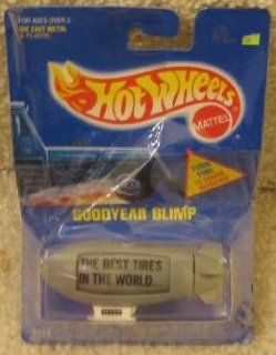 1991 Hot Wheels HW BLUE CARD #194 GOODYEAR BLIMPGRAYINTERNATIONAL CARD VARIATIONBEST TIRES in the WORLD RARE: Toys & Games