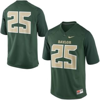 Nike Baylor Bears #25 Game Football Jersey   Green