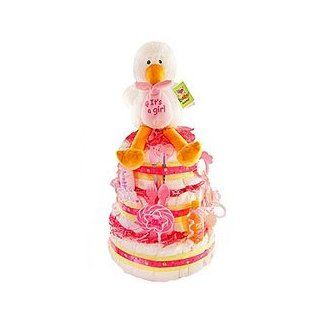 Special Delivery 3 Tier Diaper Cake   Girl: Baby