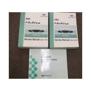 2001 Daewoo Nubira Service Shop Repair Manual Set OEM (2 volume set, and the electrical wiring diagrams manual.): daewoo: Books