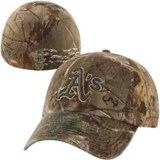 47 Brand Oakland Athletics Franchise Fitted Hat   Realtree Camo