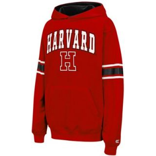 Harvard Crimson Youth Throwback Pullover Hoodie   Crimson