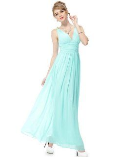 Ever Pretty Chiffon Sexy Double V neck Diamantes Party Evening Dress 09601: Clothing