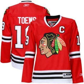 Reebok Jonathan Toews Chicago Blackhawks Womens Premier Jersey Red