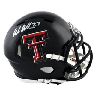 Wes Welker Texas Tech Red Raiders Autographed Riddell Mini Helmet