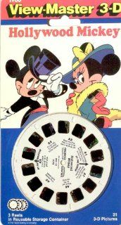 Hollywood Mickey View Master 3 Reel Set   21 3d Images   Disney Toys & Games