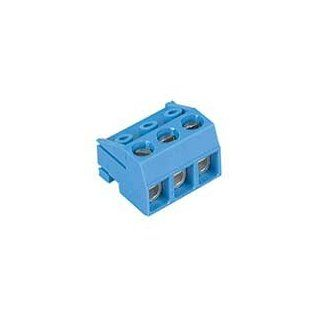 Connector Terminal Blocks Female 3 Position 5mm Screw Straight Cable Mount 15A: Industrial & Scientific