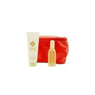 CLINIQUE WRAPPINGS by Clinique Gift Set for WOMEN SET PERFUME SPRAY .85 OZ & BODY SMOOTHER 3.4 OZ & COSMETIC BAG Beauty