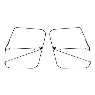 JEEP CJ7 76 86 SOFT TOP DOOR FRAMES BLACK POWDER COATED PAIR Automotive