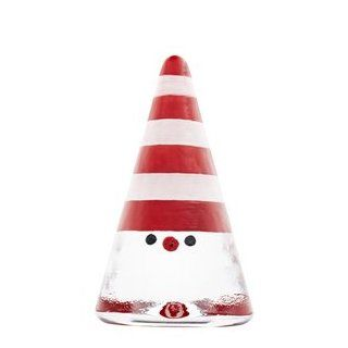 Kosta Boda 7090766 Noel Figurine Santa, Red w. Stripes: Kitchen & Dining