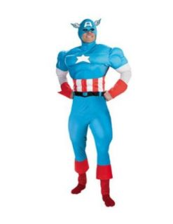 Capt America Deluxe Muscle Adult Adult Mens Costume: Clothing
