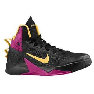 Nike Zoom Hyperfuse 2013   Mens   Basketball   Shoes   Black/Rasberry Red/Laser Orange