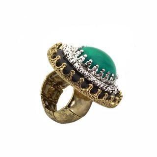NEXTE Jewelry Antique Goldtone and Acrylic Large Keepsake Fashion Ring NEXTE Jewelry More Rings