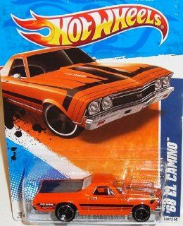 2011 Hot Wheels Muscle Mania '11   #4/10 '68 Orange EL CAMINO Collectible 1:64 Scale Car 104/244: Toys & Games