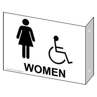 ADA Women Black on White Sign RRE 7040Proj BLKonWHT Womens / Girls : Business And Store Signs : Office Products